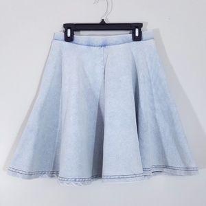 2aed1fbde5 Topshop Skirts - Topshop Blue Acid Denim Look Skater Skirt